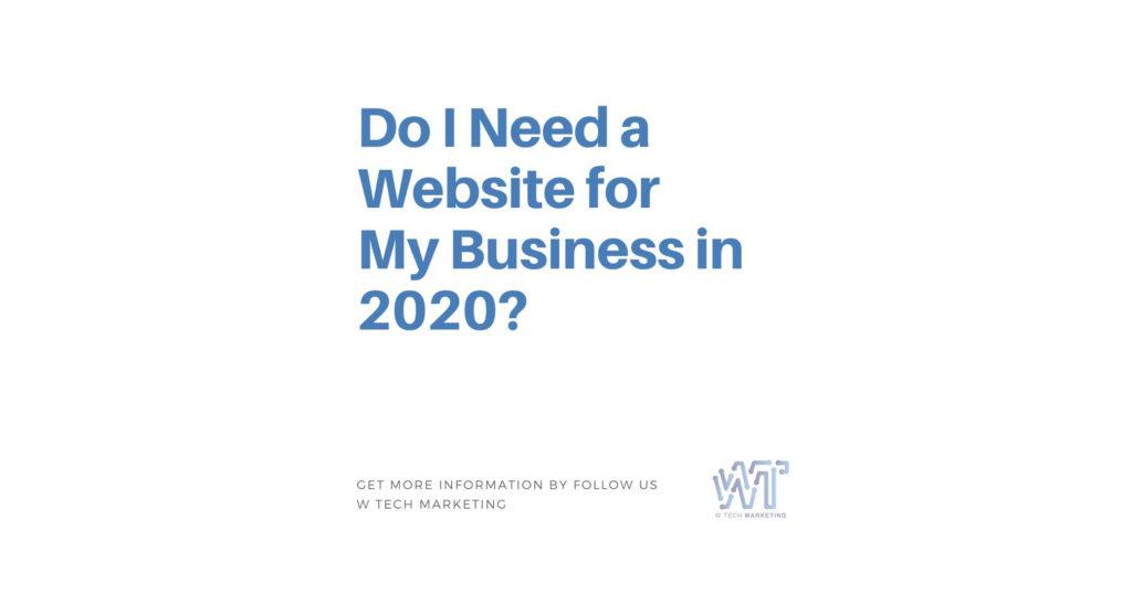 Do I need a website?
